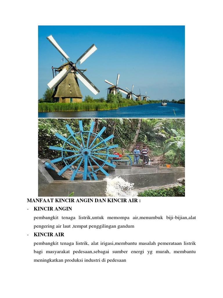 Manfaat Kincir Angin Dan Kincir Air Docx