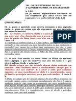 LIÇÃO Nº. 08 – 24 DE FEVEREIRO DE 2019