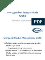 Menggambar Dengan Mode Grafik