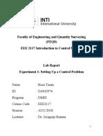 Control System Lab 1 INTI International University