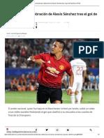La Desaforada Celebración de Alexis Sánchez Tras El Gol de Rashford Al PSG