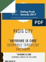 Pasig City Bayanihan Sa Daan Sustainable Transport Program