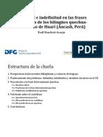Bendezu-Araujo - Definitud e Indefinitud en Las Frases Nominales de Los Bilingues Quechua-castellano de Conchucos