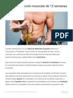Dieta de definición muscular de 12 semanas Cambiatufisico