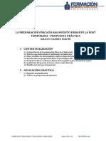 La Preparación Física en Baloncesto Durante La Post Temporada Ignacio Palmero Mayo 2017