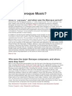 What is Baroque Music