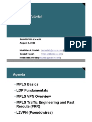 MPLS Tutorial Slides | Multiprotocol Label Switching