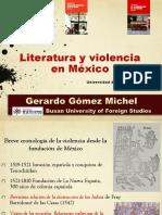 Violencia y Literatura en Mexico