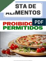 Alimentos proibidos e permitidos