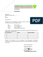 Surat Dispensasi Pts