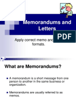 Memo and Letter Pp