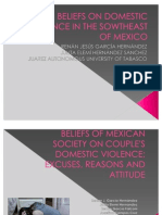 Beliefs of Mexican Society on Couple's Domestic Violence (2)