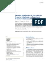 02 - Técnica Quirúrgica de Las Prótesis Femororrotulianas en La Artrosis Femororrotuliana Aislada