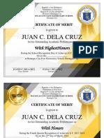 Award Certificates (ctto)