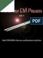 Suonopuro EWI Presets Manual