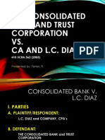 Torts Consolidated Bank v LC Diaz