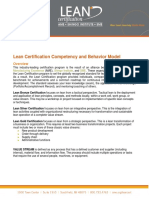 Lean Competency and Behavior Model