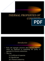 Thermal Properties of Concrete