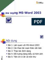 Bai Giang MS Word 2003