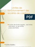 LES Limites de fonctionnement des sociétés de capitaux.pptx