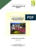 Propuesta Estudio Geotecnico y de Suelos La Macarena - Meta V2