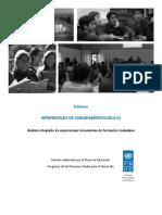 Informe Experiencias de Formación Ciudadana