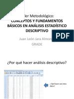 0.TALLER Conceptos y Fundamentos Básicos en Análisis Estadístico Descriptivo