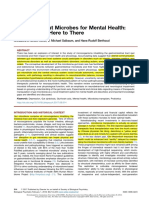 Microbiota and Mental Health