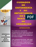 Cuidados de enfermeria y su importancia en el servicio de urgencias