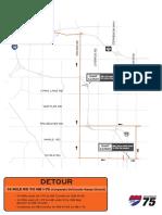 2019 I-75 Construction project detours, 14 Mile detour 2