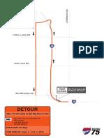 2019 I-75 Construction project detours, Big Beaver detour