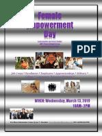 Flyer - JJCC Female Empowerment Day 2019