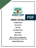 Camp Eisner Info 2018 Parent Posting 3