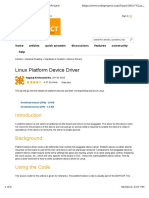 Platform drivers in linux