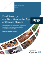 Food security and nutrition in the age of climate change Proceedings of the International Symposium organized by the Government of Québec in collaboration with FAO