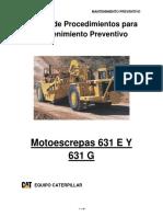 Manual de Procedimientos Motoescrepas 631e y 631g