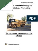 Manual de Procedimientos Perfiladora de Pavimento Pm-565