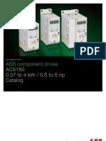 ACS150 ABBcomponent Drives Catalog REVE En