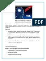 Coaching Con Programacion Neurolinguistica Pulse Aqui Para Ver Los Objetivos y El Contenido Programatico de La Maestria Internacional