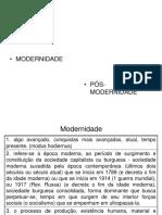 01 - Modernidade e Pos-modernidade