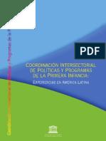 Coordinacion Intersectorial Politicas Programas Primera Infancia