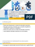Slide_Desenvolvimento das pessoas e a educação corporativa