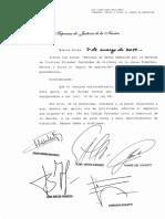 La Corte rechazó los planteos de Cristina Kirchner y Oscar Parrilli.