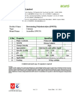 Specification - Dewatering Polyelectrolyte Acurofloc DWC91