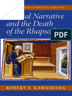 Biblical Narrative and the Death of the Rhapsode - Kawashima, Robert S.pdf