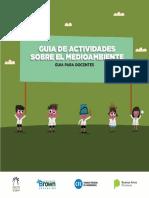 Guía de Actividades Sobre El Medioambiente Docentes