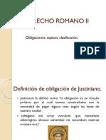 DERECHO ROMANO II Fuentes de Las Obligaciones Clase 22 Feb 2018