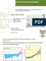 Climate Change Trends and Expected Impacts in Japan