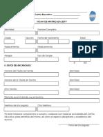 Ficha de Inscripción 2019