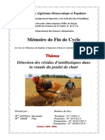 Détection des résidus d'antibiotiques dans la viande du poulet de chair.pdf